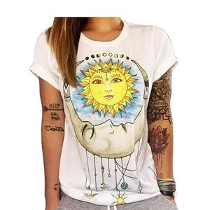 Tops - Sun and Moon Graphic Tee